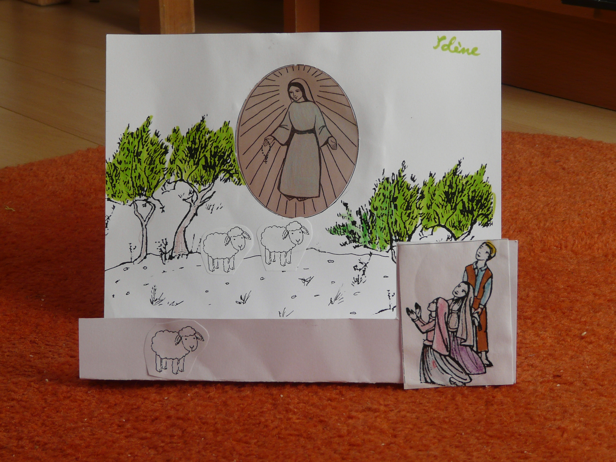 Montage scène apparition de Marie à Fatima